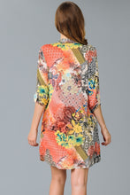 Load image into Gallery viewer, Coral Multi Print Dress