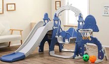 Swing Slide Set with Hoop and Goal