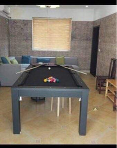 New 7ft Dining Pool Table Black (cloth colour green, blue or black)