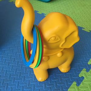 Animal Hoop Yellow Elephant