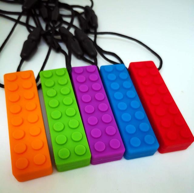 Sensory Chew Necklace - brick
