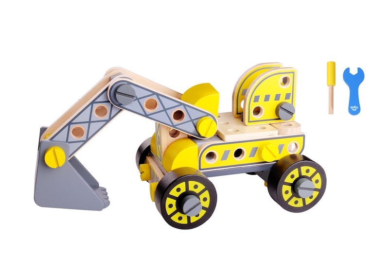 Build a Wooden Forklift and Excavator