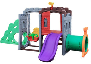 Castle Fort with Tunnel, Swing and Climbing Wall