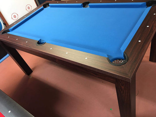 Dining Pool Table Brown Blue