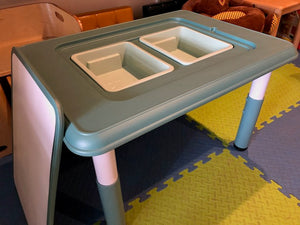 Kids Whiteboard and Storage Table