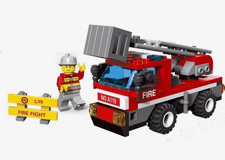 Lego Compatible Building Block Fire Truck