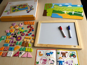Magnetic Shapes Board Farm Animals