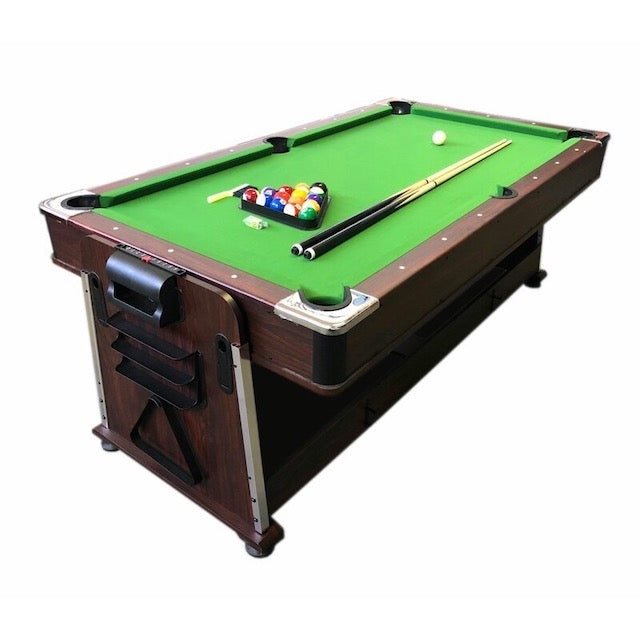 Multifunctional Rotating Pool and Air Hockey Table