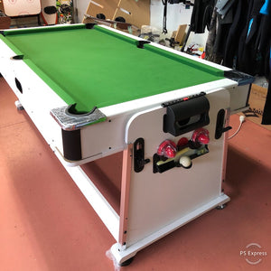 Multifunctional Pool and Air Hockey Table with Table Tennis Top