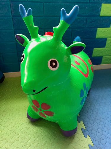 Musical Animal Hopper Green Deer