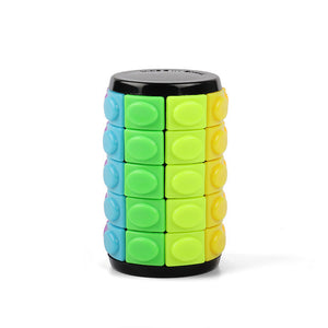 Rotate and Slide Cylinder Puzzle 5 layer