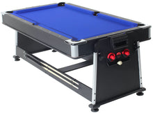 Multifunctional Rotating Pool and Air Hockey Table with Table Tennis Top.