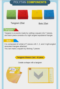 Tangram Block Set and Cards