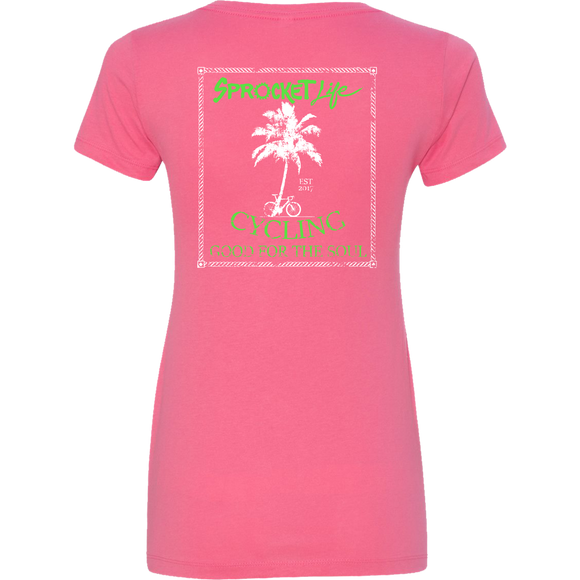 Cycling Good for the Soul: Hot Pink - Women's V-Neck