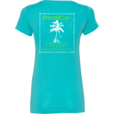 Cycling Good for the Soul: Tahiti Blue - Women's V-Neck