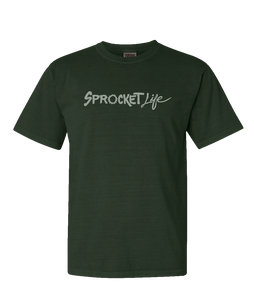 Sprocket Life Mens Moss Green Logo T Shirt
