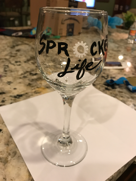 Wine Glass - Sprocket Life Logo