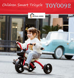Children Smart Tricycle One-key Folding Portable Bicycle Easy Fix Toy (TOY0092)