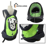Pet Carrier Backpack Bag Portable Cat Dog Travel Double Shoulder Mesh Bag Head Out (PET0013)