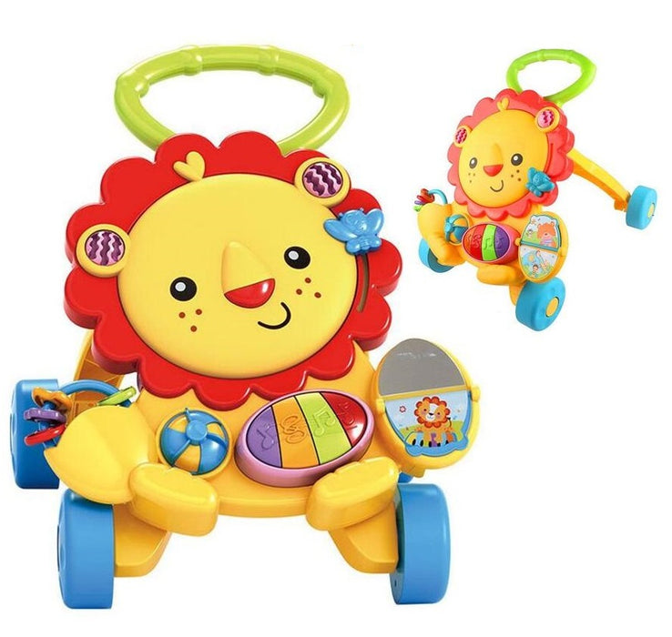 Baby Walker Lion Musical Push Trolley Education Piano Learning Toys (BAY0082)