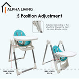 Height Adjustable, Foldable Baby High Chair (BAY0224TQ)