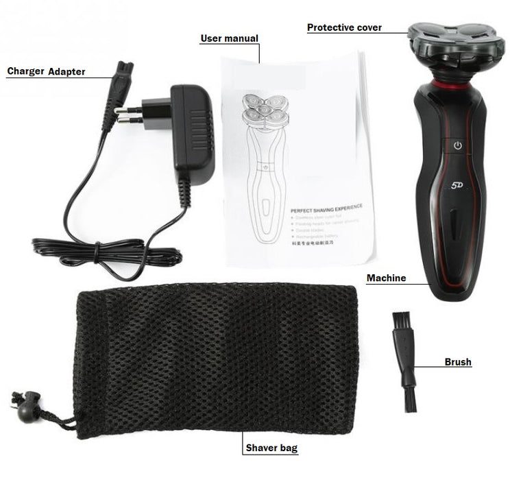 Rechargeable 5D Rotating Floating Razor Shaver Groomer For Men(HEA0046)