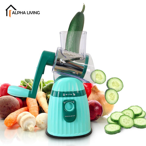 Multi-functional High Quality Hand Operated Fruit Vegetable Cutter with Round Graters (KEA0210)