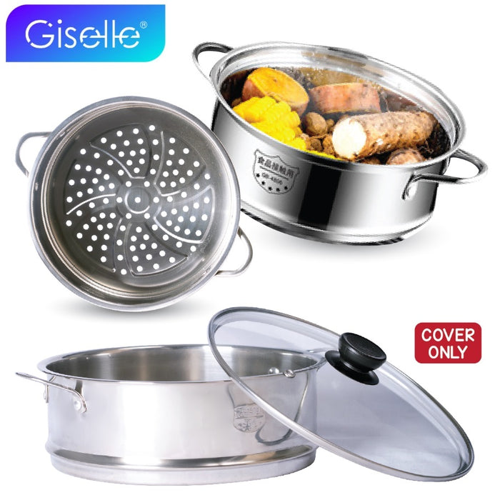 Giselle Lid Tempered Glass Cover Non-stick Pan Household Transparent Lid Wok - Lid ONLY (KEA0222S7)