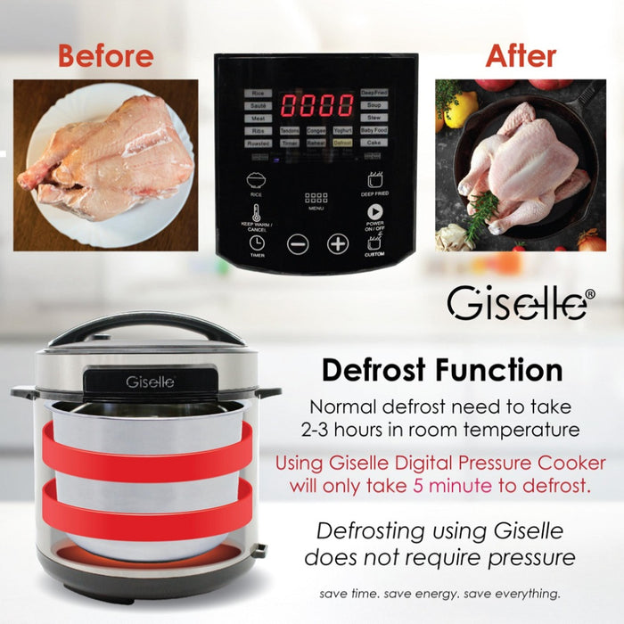 Giselle 6L Digital Pressure Cooker