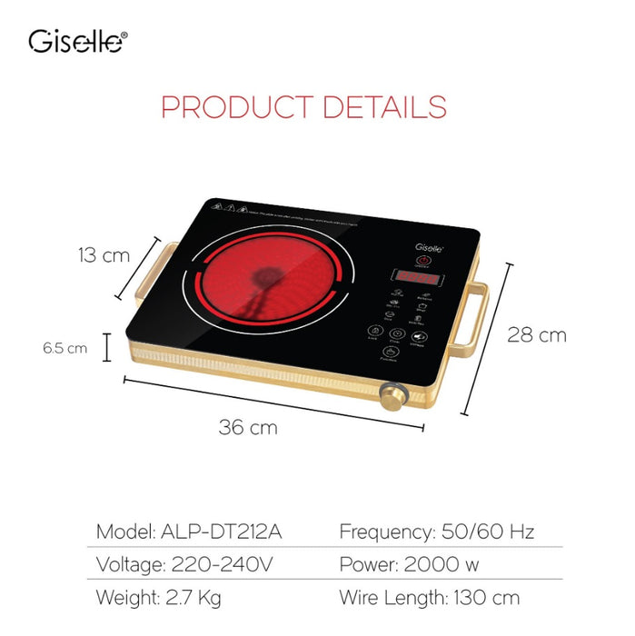 Giselle Electric Infrared Cooker With Touch Control - 2000 Watt (KEA0310)