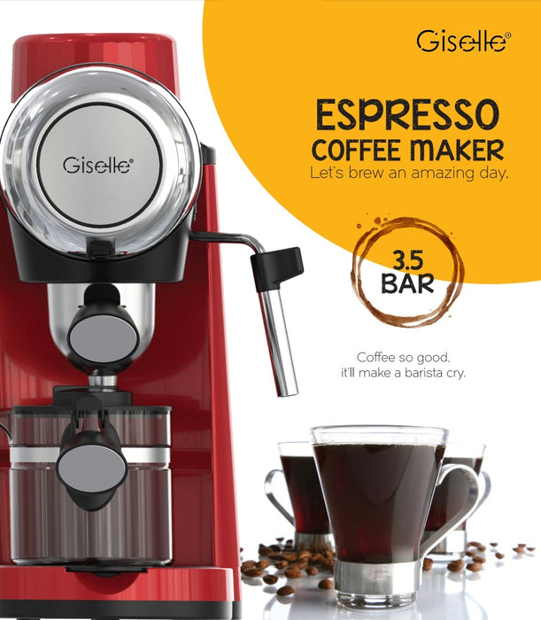 Giselle Espresso Coffee Milk Bubble Maker Machine 800W (KEA0330RD)