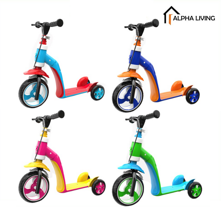 2 in 1 Kids Child Scooter Balance Car Children's Balance Bike Baby Multifunctional Tricycle(TOY0104)