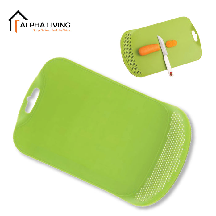 Modern Design Non-Slip Cutting Board with Drain Chopping Board for Kitchen Fruits and Vegetables (KTN0089)