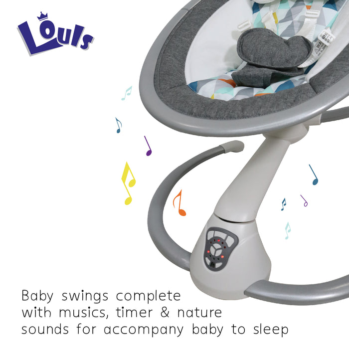 Louis Baby Swing Electric Auto Cradle Swing Chair with Music for Newborn Baby (BAY0144)