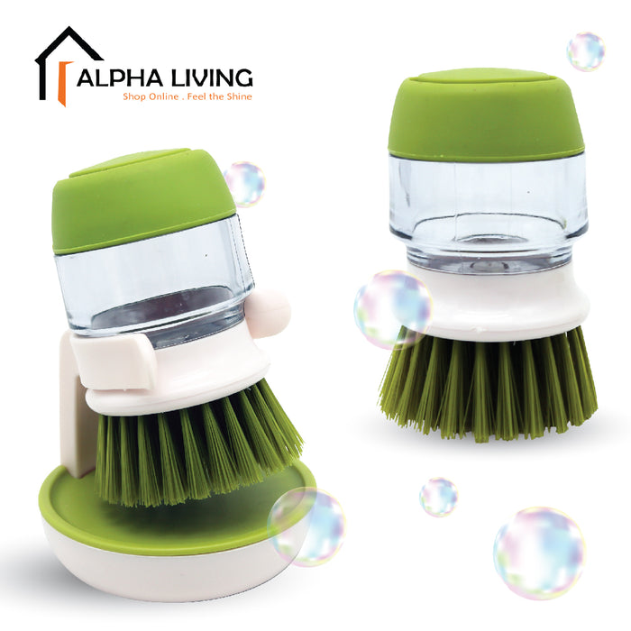 Soap Detergent Dispenser Brush Dish-washing Scrub with Stand (KTN0098)