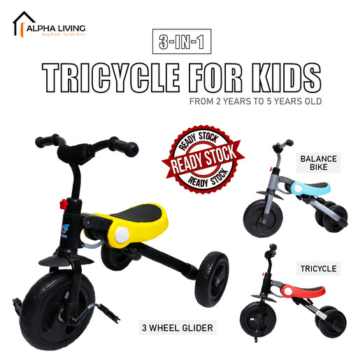 3-in-1 Tricycle for Kids from 2 Years to 5 Years Old TOY0103