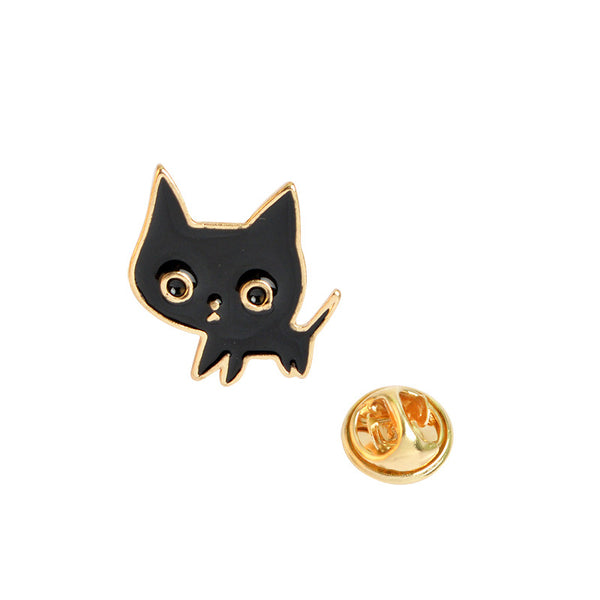 Black Kitty Cat Enamel Pin