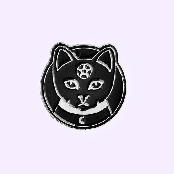 Familiar Cat Enamel Pin