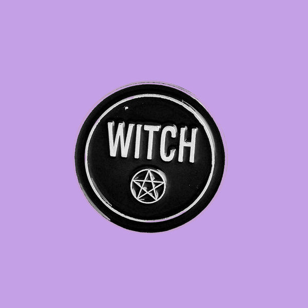 Witch Pentacle occult witchcraft enamel pin by Planet Macabre