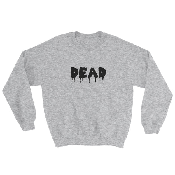 Dead Crewneck in Heather Gray