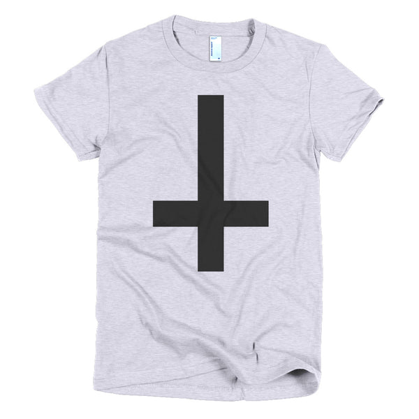 Cross of St Peter Tee in Heather Gray