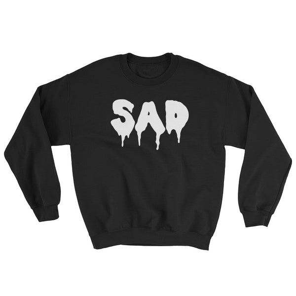 Sad Crewneck in Black