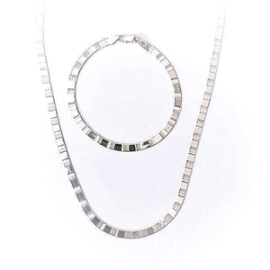Herringbone Chain Reversible Necklace and Bracelet