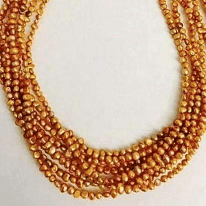 Eight Strand Freshwater Pearls Necklace Smoky Spicy