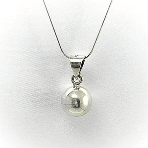 Sterling Silver Chime Ball Pendant Chain Set
