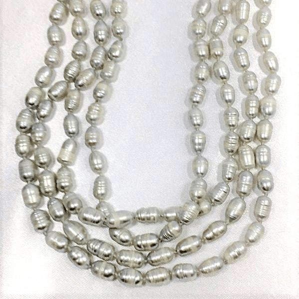 Baroque Grey Freshwater Pearls Necklace Set