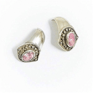 Rose Crystal Stud Sterling Silver Earrings