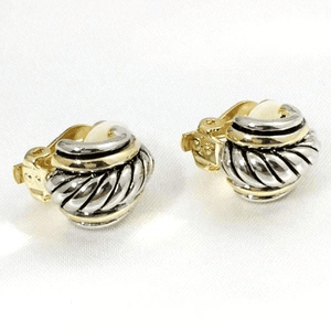 Clip-On Earrings Shell Gold and Silver Fashion