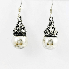 Filigree Ball Sterling Silver Earrings