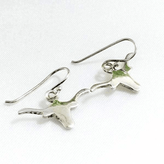 Long Horn Texas Logo Earrings Set
